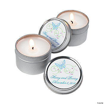 Spring Wedding Candle Tins