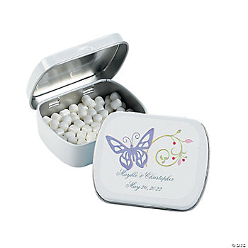 Personalized Spring Wedding Tins With Mints