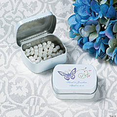 Spring Wedding Tins with Mints