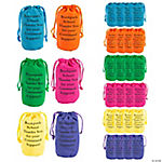 Personalized Bright Neon Color Drawstring Bags