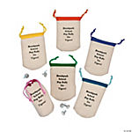 Personalized Small Drawstring Bags with Bright Trim