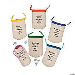 Personalized Bright Color Drawstring Bags