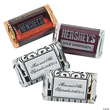 Personalized Black And White Mini Hershey's® Bars