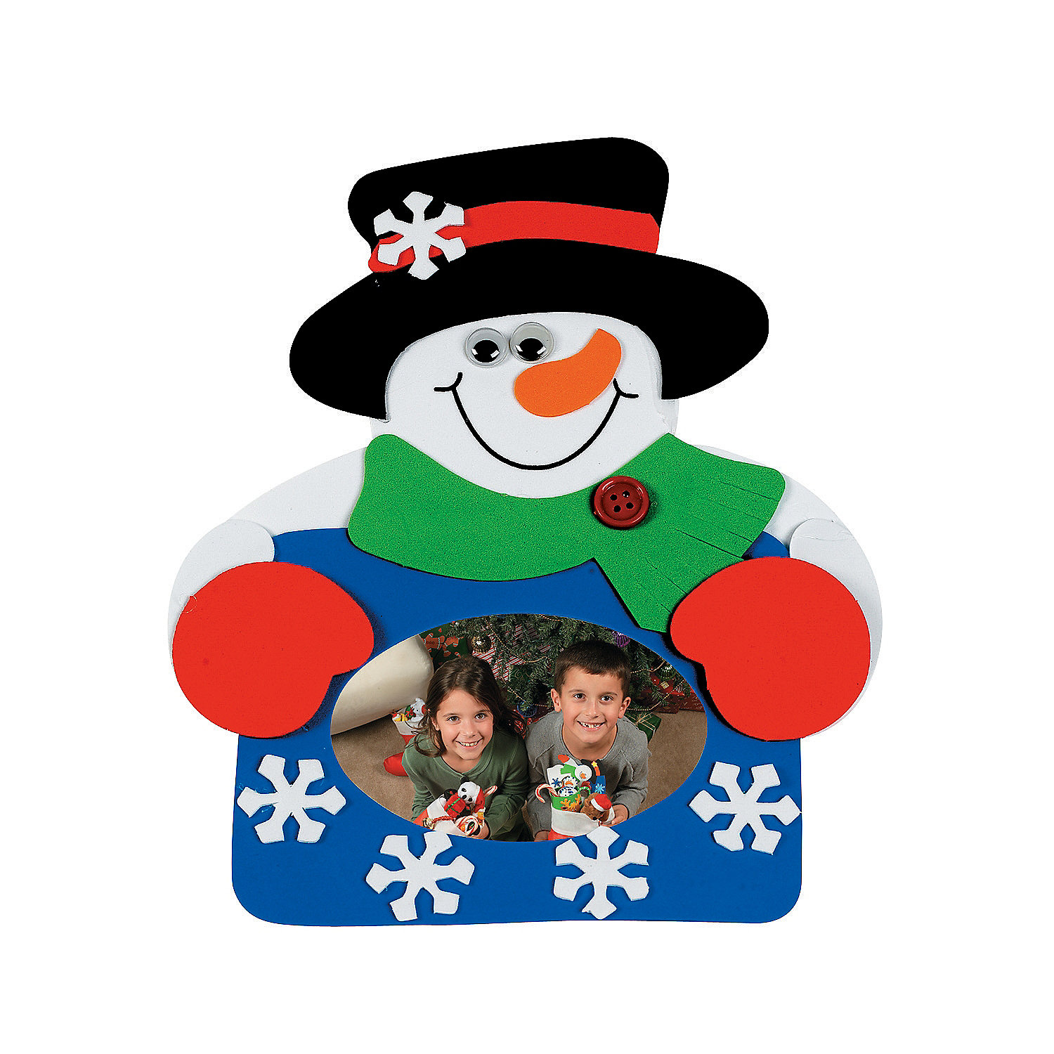 snowman picture frame magnet craft kit makes 12