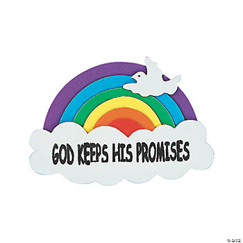 """God Keeps His Promises"" Rainbow Magnet Craft Kit"