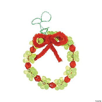 Beaded Wreath Ornament Craft Kit