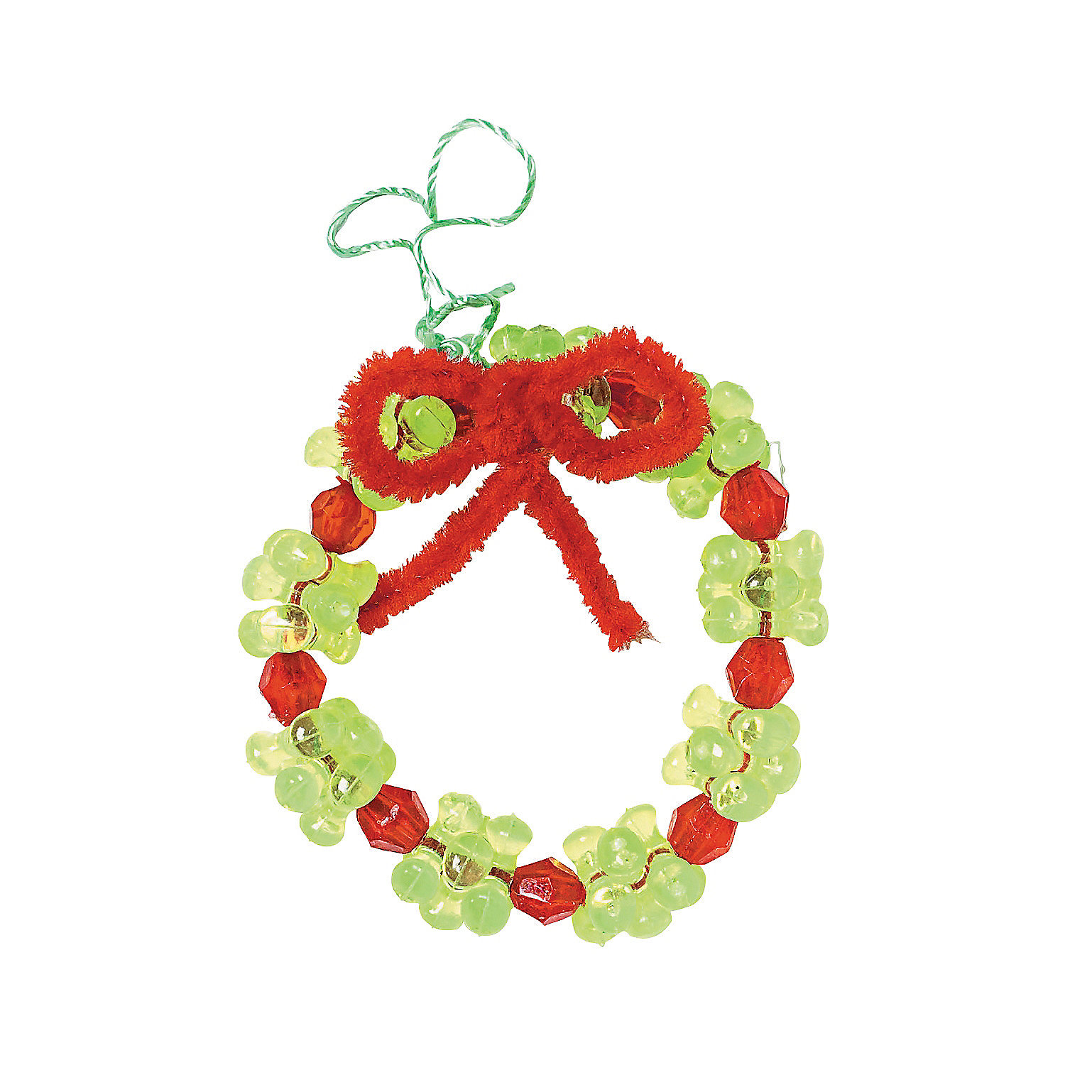 beaded wreath ornament craft kit trading