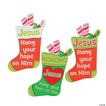"""Hang Your Hope On Him"" Stocking Magnet Craft Kit"