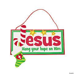 """Hang Your Hope on Him"" Sign Craft Kit"