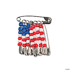 Beaded American Flag Pin Craft Kit