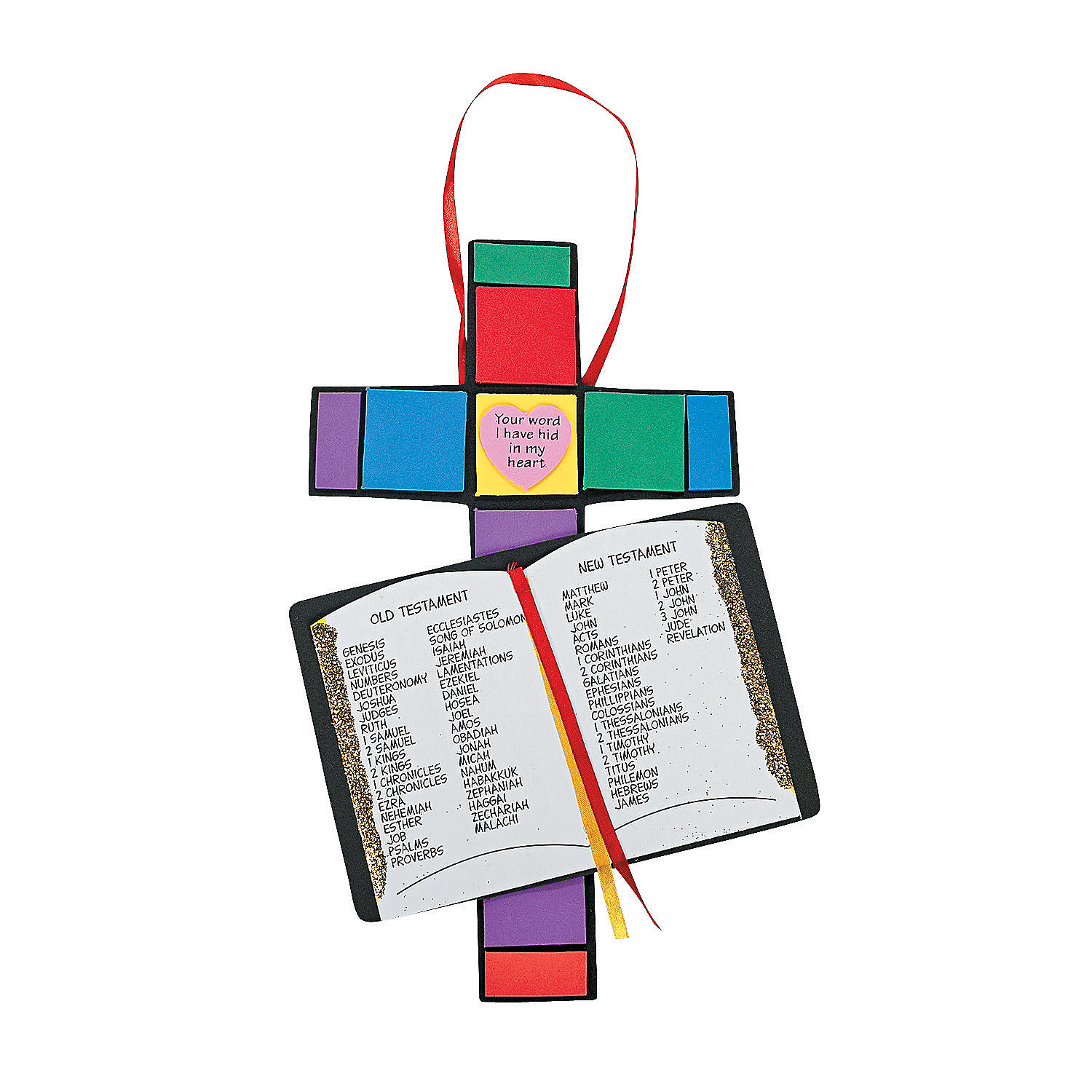 Books of the bible craft kit oriental trading for Bible school craft supplies