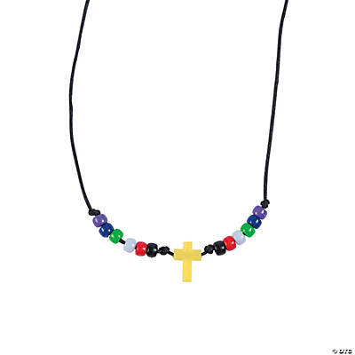 Faith Beaded Cross Necklace Craft Kit