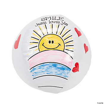 Inflatable Color Your Own Religious Beach Balls