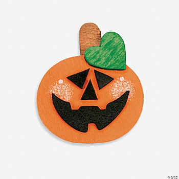 Wooden Jack-O'-Lantern Magnet Craft Kit