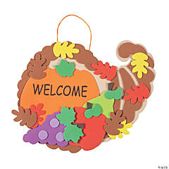 Foam Cornucopia Door Sign Thanksgiving Craft Kit