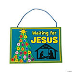 """Waiting For Jesus"" Sign Craft Kit"