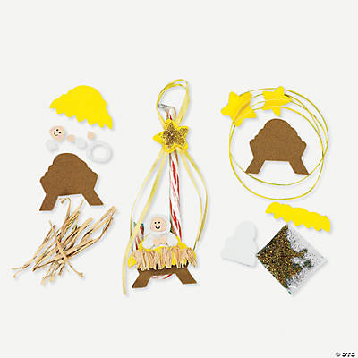 Religious Candy Cane Ornament Craft Kit
