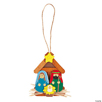 Wooden Nativity Ornament Craft Kit