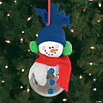 Snowman Ball Christmas Ornament Craft Kit