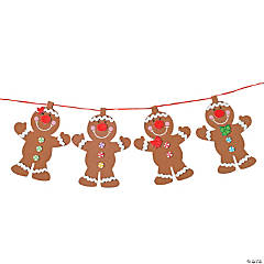 Gingerbread Garland Glitter Garland Christmas Craft Kit