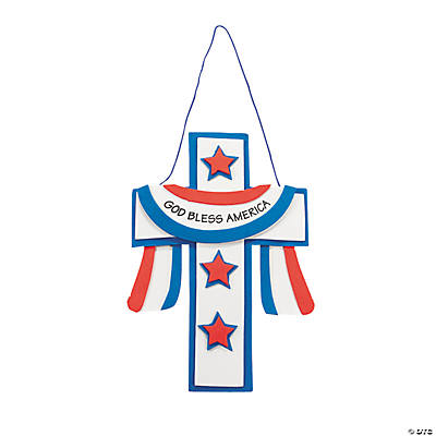 """God Bless America"" Cross Craft Kit"