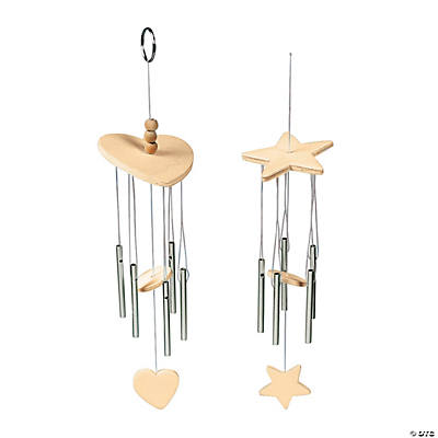 DIY Unfinished Wood Wind Chimes