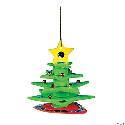 3D Christmas Tree Ornament Craft Kit