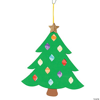 Tissue Paper Christmas Tree Craft Kit