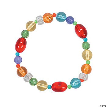 Beaded Candy-Colored Bracelet Craft Kit