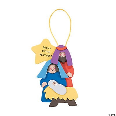 """Jesus Is the Best Gift"" Christmas Ornament Craft Kit - Makes 12"