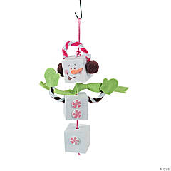 Candy Snowman Ornament Craft Kit
