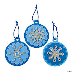 Foam Round Snowflake Christmas Ornament Craft Kit
