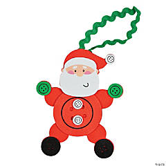 Button Santa Ornament Craft Kit