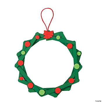 Craft Stick Wreath Ornament Craft Kit