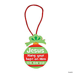 """Hang Your Hope On Him"" Ornament Craft Kit"