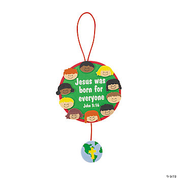 """Jesus Was Born For Everyone"" Ornament Craft Kit"