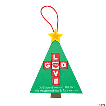 """God Is Love"" Christmas Tree Ornament Craft Kit"