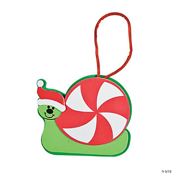Christmas Peppermint Snail Ornament Craft Kit