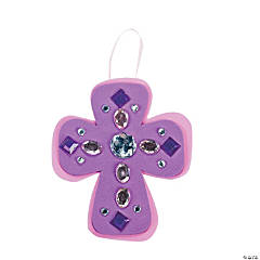 Rhinestone Cross Ornament Craft Kit