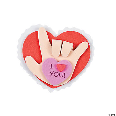 "Sign Language ""I Love You!"" Pin Craft Kit"
