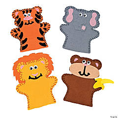 Felt Zoo Animal Lacing Puppet Craft Kit