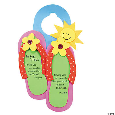 """In His Steps"" Doorknob Hanger Craft Kit"
