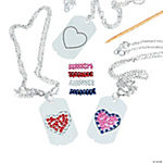 Jewel Heart Dog Tag Necklace Craft Kit