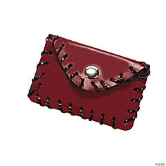 Imitation Leather Rectangular Coin Purse Lacing Craft Kit