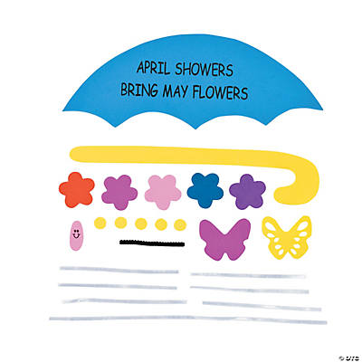 """April Showers Bring May Flowers"" Sign Craft Kit"