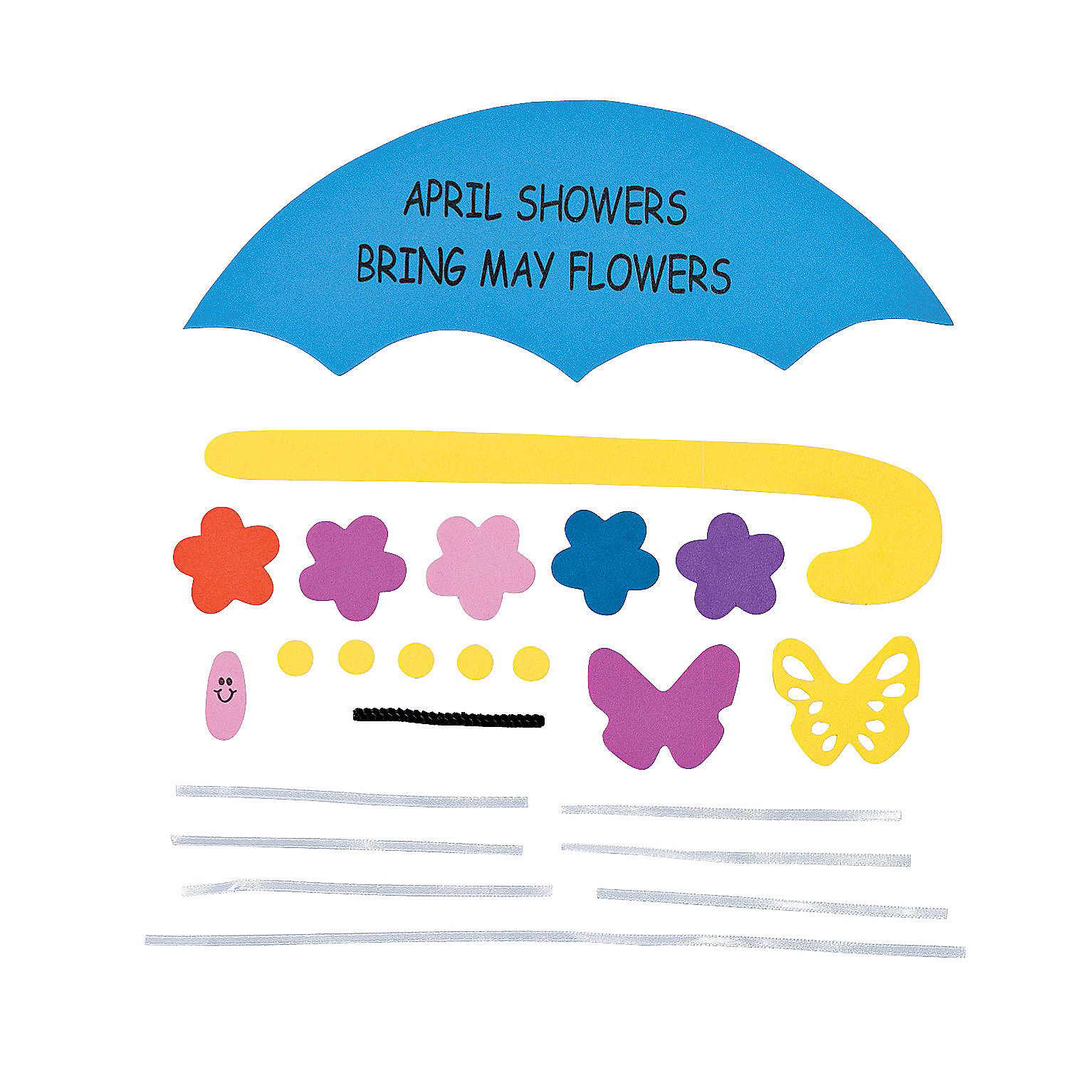 April Showers Bring May Flowers Sign Craft Kit   Oriental Trading XdNrnvGc