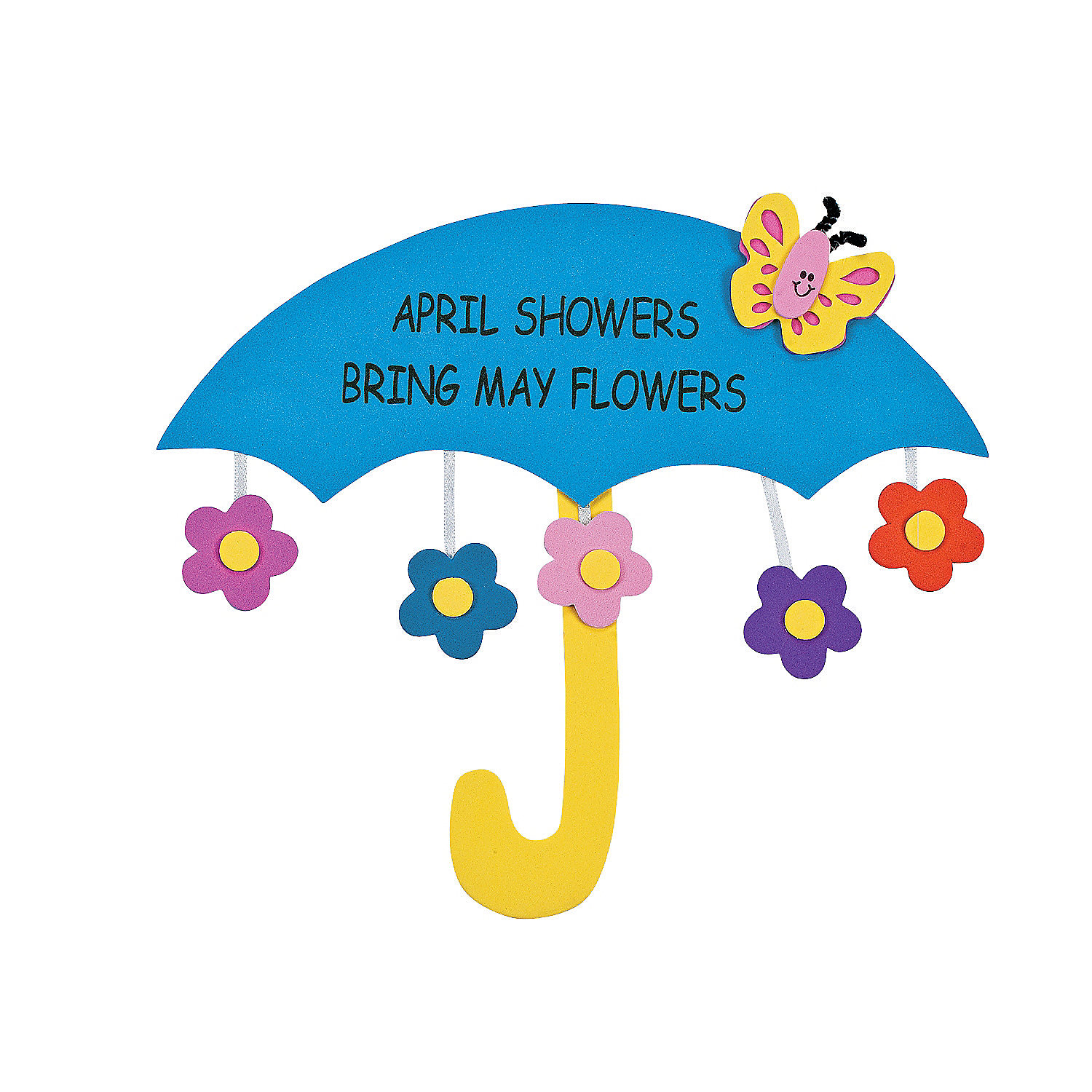april showers bring may flowers sign craft kit oriental trading