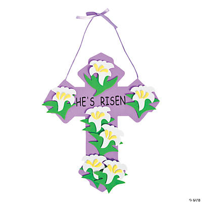 """He's Risen"" Cross Craft Kit"