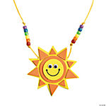 Smile Face Sun Necklace Craft Kit