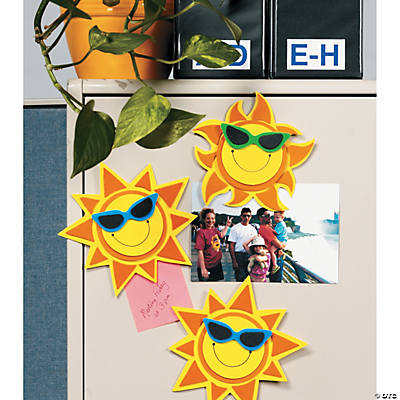 Smile Face Sun Magnet Craft Kit